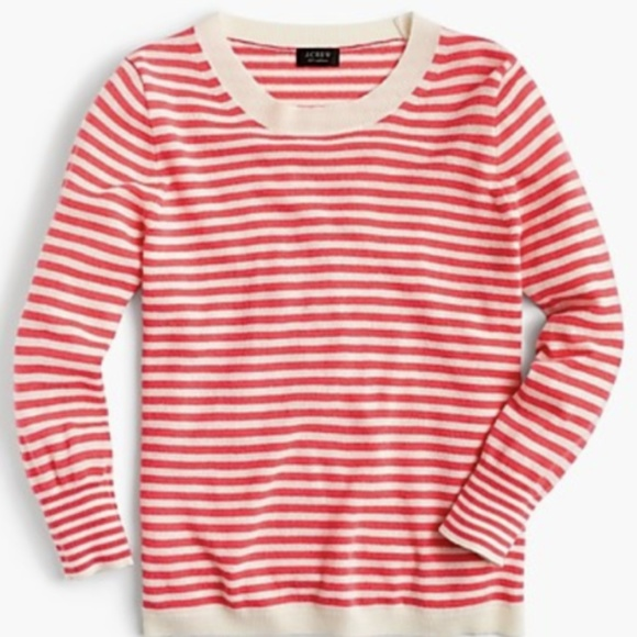 J. Crew Sweaters - J.Crew Striped crewneck sweater in everyday cashme